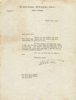 ALFRED E. SMITH - TYPED LETTER SIGNED 03/11/1942