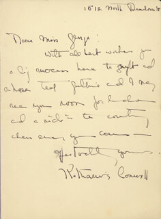 KATHARINE CORNELL - AUTOGRAPH LETTER SIGNED
