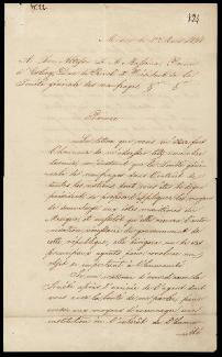 Autographs: PRESIDENT ANASTASIO BUSTAMANTE (MEXICO) - MANUSCRIPT LETTER SIGNED 03/01/1838