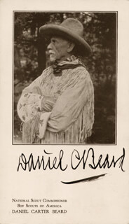 Autographs: DANIEL C. BEARD - PRINTED PHOTOGRAPH SIGNED IN INK