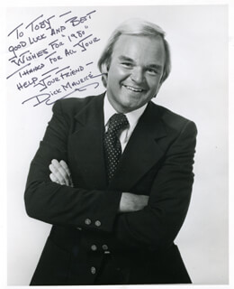 DICK MAURICE - AUTOGRAPHED INSCRIBED PHOTOGRAPH