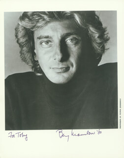 BARRY MANILOW - AUTOGRAPHED INSCRIBED PHOTOGRAPH 1980