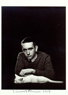 Autographs: EDWARD ALBEE - PHOTOGRAPH SIGNED 1984