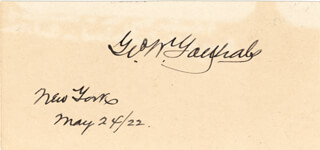 Autographs: MAJOR GENERAL GEORGE W. GOETHALS - SIGNATURE(S) 05/24/1922