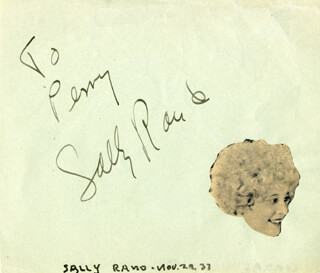 SALLY RAND - INSCRIBED SIGNATURE CIRCA 1937 CO-SIGNED BY: CONRAD THIBAULT