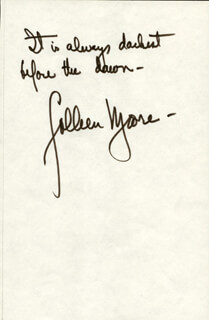 COLLEEN MOORE - AUTOGRAPH QUOTATION SIGNED