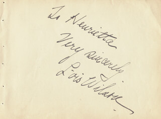 LOIS WILSON - AUTOGRAPH NOTE SIGNED