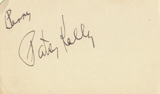 PATSY KELLY - INSCRIBED SIGNATURE