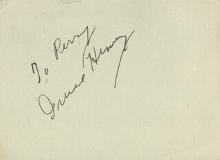 IRENE HERVEY - INSCRIBED SIGNATURE