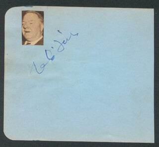 W. C. FIELDS - AUTOGRAPH CO-SIGNED BY: HUGH HERBERT