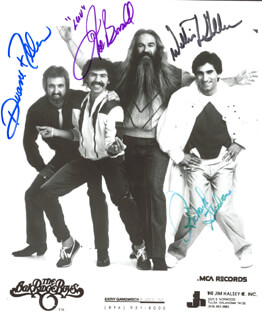 OAK RIDGE BOYS - AUTOGRAPHED SIGNED PHOTOGRAPH CO-SIGNED BY: OAK RIDGE BOYS (DUANE ALLEN), OAK RIDGE BOYS (JOE BONSALL), OAK RIDGE BOYS (RICH STERBAN), OAK RIDGE BOYS (WILLIAM LEE GOLDEN)
