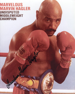 autographs marvelous marvin hagler photograph signed