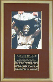MARVELOUS MARVIN HAGLER - AUTOGRAPHED SIGNED PHOTOGRAPH