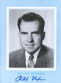 PRESIDENT RICHARD M. NIXON - INAUGURAL PROGRAM SIGNED CIRCA 1957