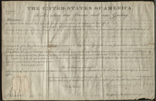 PRESIDENT ANDREW JACKSON - LAND GRANT SIGNED 04/13/1829 CO-SIGNED BY: GEORGE GRAHAM