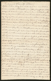 CHIEF JUSTICE ROGER B. TANEY - AUTOGRAPH MANUSCRIPT SIGNED 10/18/1818