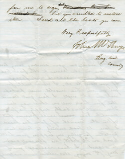 MAJOR GENERAL JOHN M. THAYER - AUTOGRAPH LETTER SIGNED 06/08/1864