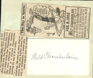 Autographs: WILT THE STILT CHAMBERLAIN - SIGNATURE(S)