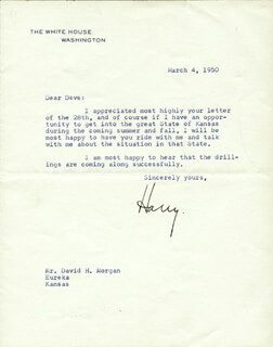 PRESIDENT HARRY S TRUMAN - TYPED LETTER SIGNED 03/04/1950