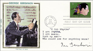 IRA GERSHWIN - TYPED LYRIC(S) SIGNED 02/28/1973