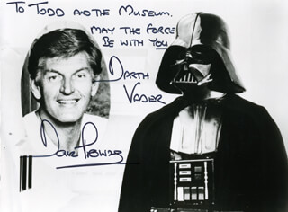 DAVE PROWSE - AUTOGRAPHED INSCRIBED PHOTOGRAPH