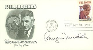 BURGESS MEREDITH - FIRST DAY COVER SIGNED