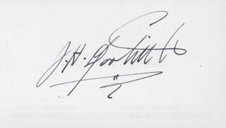 Autographs: BRIGADIER GENERAL JAMES H. JIMMY DOOLITTLE - BUSINESS CARD SIGNED