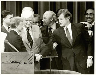 PRESIDENT JAMES E. JIMMY CARTER - AUTOGRAPHED SIGNED PHOTOGRAPH