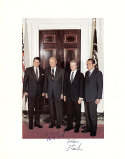 PRESIDENT JAMES E. JIMMY CARTER - AUTOGRAPHED INSCRIBED PHOTOGRAPH CO-SIGNED BY: PRESIDENT GERALD R. FORD
