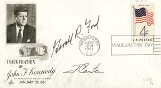 Autographs: PRESIDENT JAMES E. JIMMY CARTER - INAUGURAL COVER SIGNED CO-SIGNED BY: PRESIDENT GERALD R. FORD
