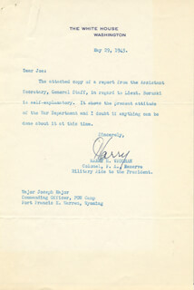 GENERAL HARRY H. VAUGHAN - TYPED LETTER SIGNED 05/29/1945