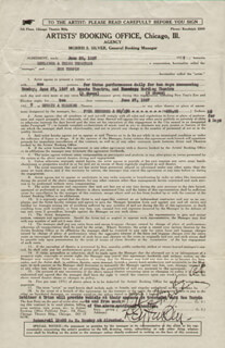 BEN TURPIN - DOCUMENT SIGNED 06/25/1927