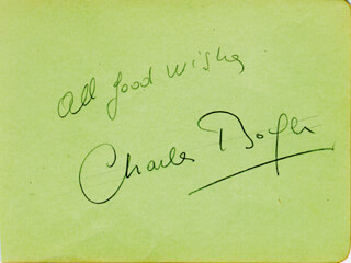 CHARLES BOYER - AUTOGRAPH SENTIMENT SIGNED