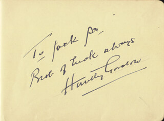 HUNTLEY GORDON - AUTOGRAPH NOTE SIGNED