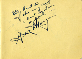 GENE MORGAN - AUTOGRAPH NOTE SIGNED CO-SIGNED BY: PHIL REGAN