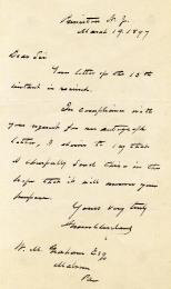 Autographs: PRESIDENT GROVER CLEVELAND - AUTOGRAPH LETTER SIGNED 03/19/1897