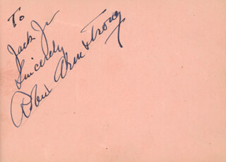 Autographs: ROBERT ARMSTRONG - AUTOGRAPH NOTE SIGNED CO-SIGNED BY: EDWARD EVERETT HORTON