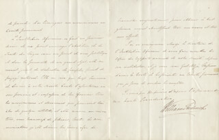 KING WILLIAM IV - AUTOGRAPH LETTER SIGNED 05/11/1822
