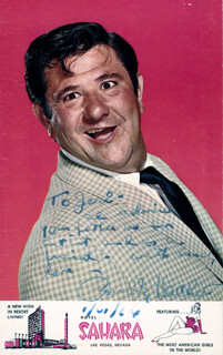 BUDDY HACKETT - INSCRIBED PICTURE POSTCARD SIGNED 06/01/1964