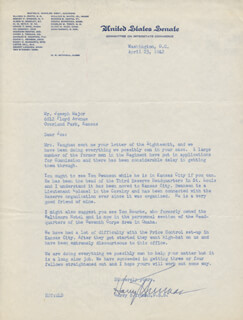 PRESIDENT HARRY S TRUMAN - TYPED LETTER SIGNED 04/23/1942