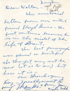 MICHAEL TODD - AUTOGRAPH LETTER SIGNED