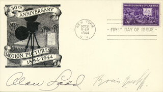 ALAN LADD - FIRST DAY COVER SIGNED CO-SIGNED BY: BORIS KARLOFF