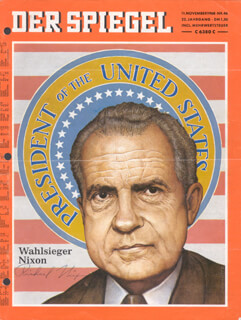Autographs: PRESIDENT RICHARD M. NIXON - MAGAZINE COVER SIGNED