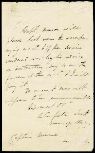 LT. GENERAL WINFIELD SCOTT - AUTOGRAPH LETTER SIGNED 03/19/1842
