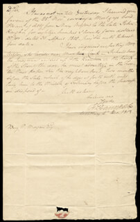 Autographs: MAJOR GENERAL FRANKLIN DAVENPORT - MANUSCRIPT LETTER SIGNED 12/04/1813