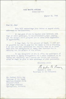 CHARLES G. ROSS - TYPED LETTER SIGNED 08/18/1945