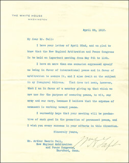 PRESIDENT WILLIAM H. TAFT - TYPED LETTER SIGNED 04/23/1910