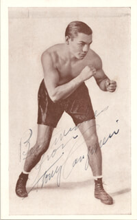 TONY CANZONERI - AUTOGRAPHED SIGNED PHOTOGRAPH