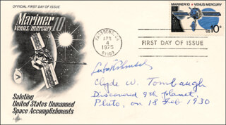 CLYDE WILLIAM TOMBAUGH - FIRST DAY COVER SIGNED CO-SIGNED BY: LUBOS KOHOUTEK