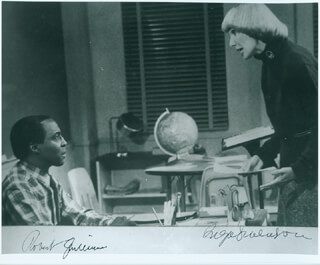 Autographs: BENSON TV CAST - PHOTOGRAPH SIGNED CO-SIGNED BY: INGA SWENSON, ROBERT GUILLAUME